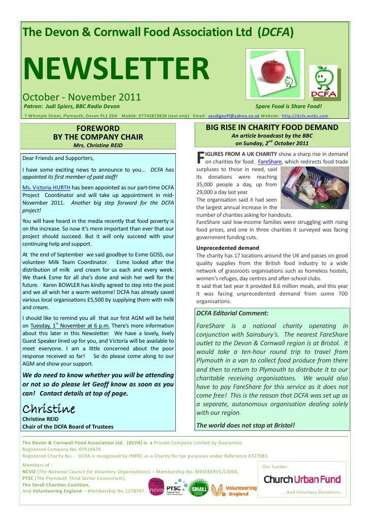 DCFA Oct-Nov 2011 Newsletter
