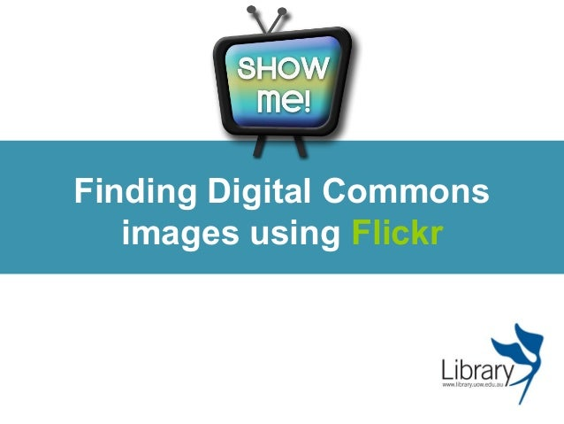Finding Digital Commons images using Flickr