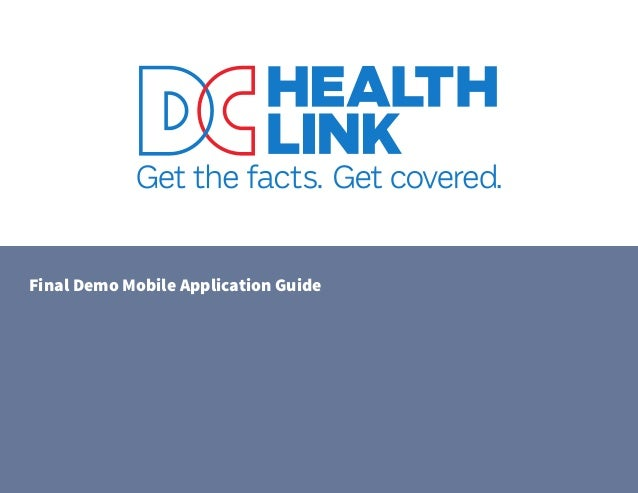 DC Health Link New Mobile App 1.0 Brings Health Insurance Resources to Consumers' Smartphones