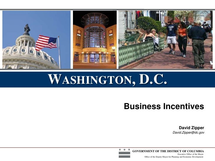 Doing Business in DC | DC Business Incentives | DC Tech Incentives, Supermarket Tax Credit and more