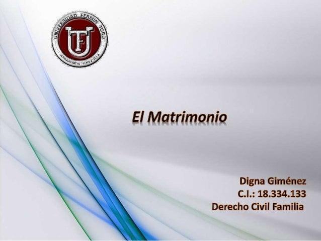 Etimológicamente la palabra matrimonio, deriva de las voces latinas matris (madre) y munium (oficio) Es un acto solemne, m...