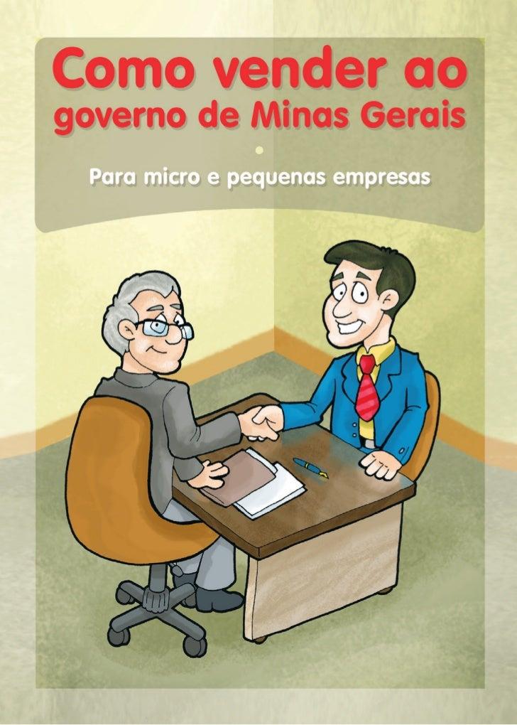Como vender ao Governo de Minas