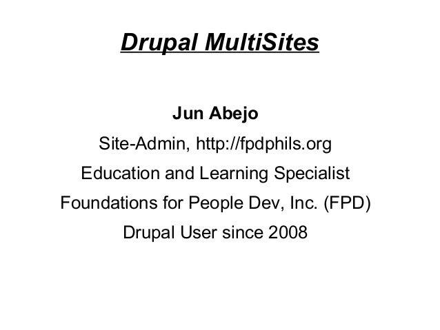 Local Drupal MultiSite Set-up