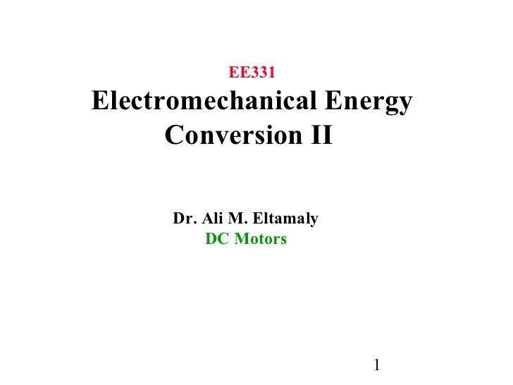 electromechnical energy conversion ppt
