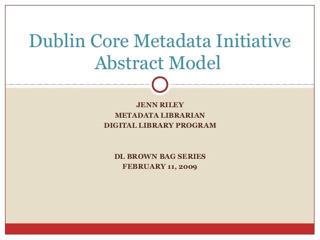 Dublin Core Metadata Initiative Abstract Model