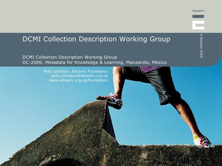 DCMI Collection Description Working Group