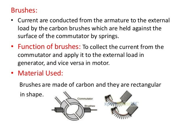 Dc motor for Dc motor brushes function