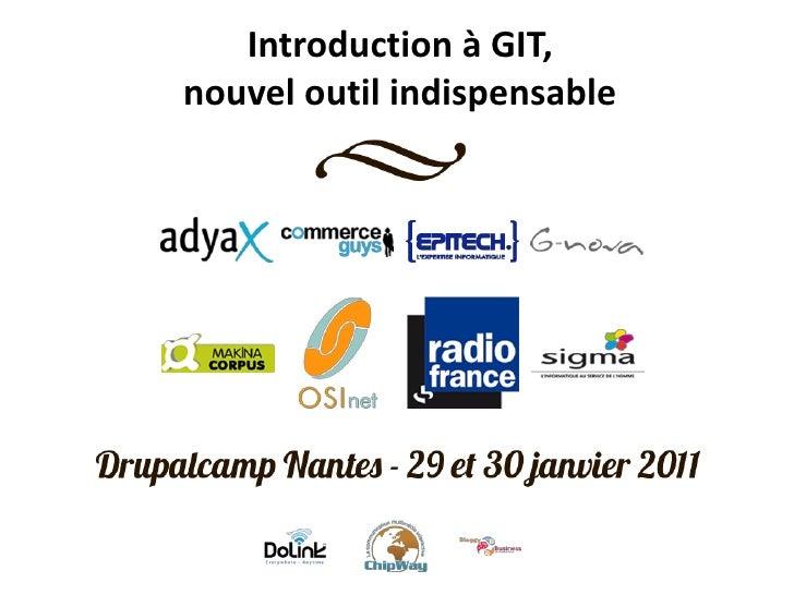Introduction à GIT,nouvel outil indispensable