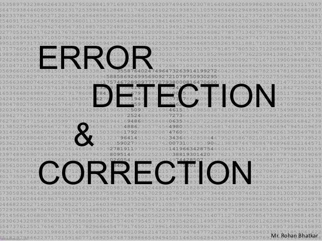 DCN Error Detection & Correction