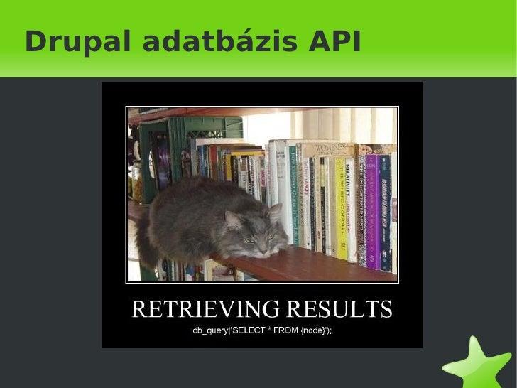 Drupal 6 Database layer