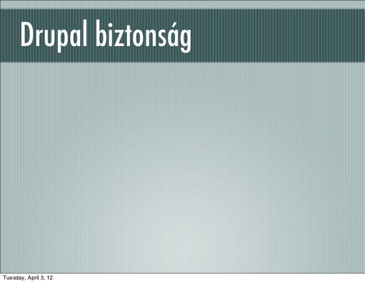 Drupal kurzus security (Drupal 7)