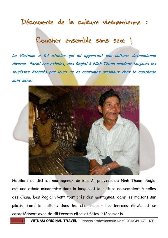 1 VIETNAM ORIGINAL TRAVEL – Licence professionnelle No : 01024/GPLHQT – TCDL Découverte de la culture vietnamienne : Couch...