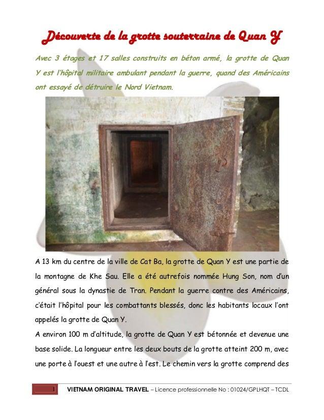 Découverte de la grotte souterraine de Quan Y Avec 3 étages et 17 salles construits en béton armé, la grotte de Quan Y est...