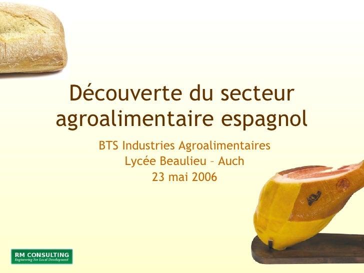 DéCouverte Du Secteur Agroalimentaire Espagnol