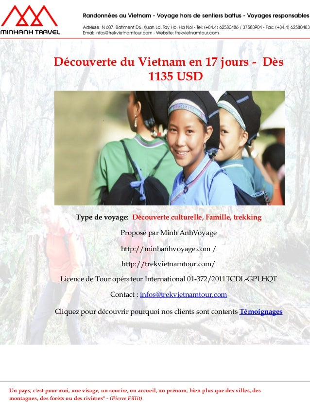 Découverte du Vietnam en 17 jours - Dès1135 USDType de voyage: Découverte culturelle, Famille, trekkingProposé par Minh An...