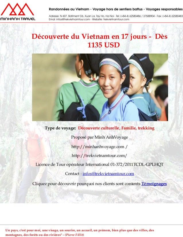 Découverte du vietnam en 17 jours    dès 1135 usd