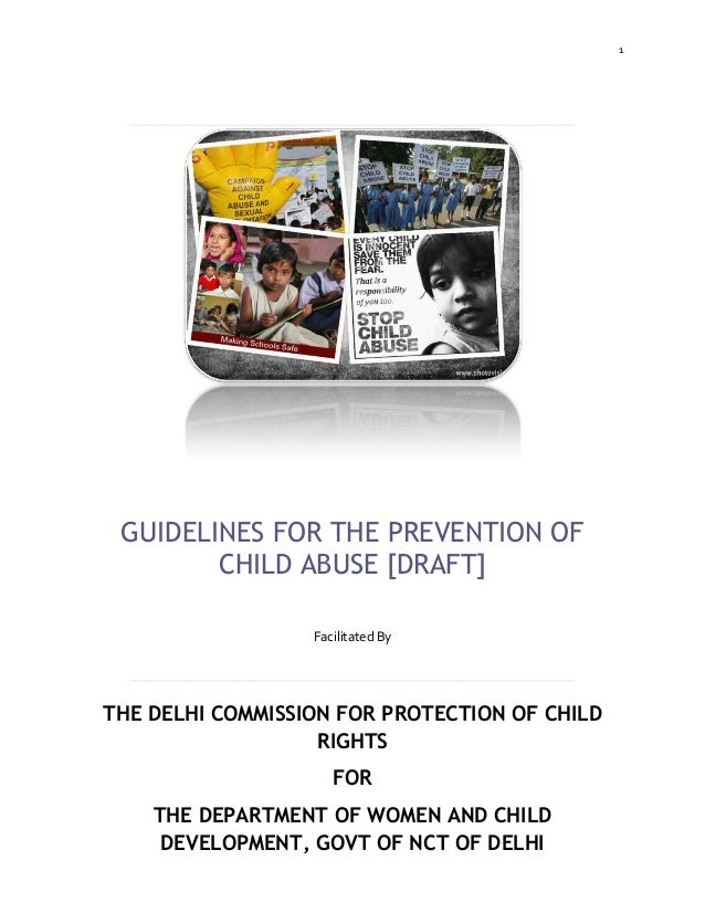 Dcpcr guidelines for the prevention of child abuse in india