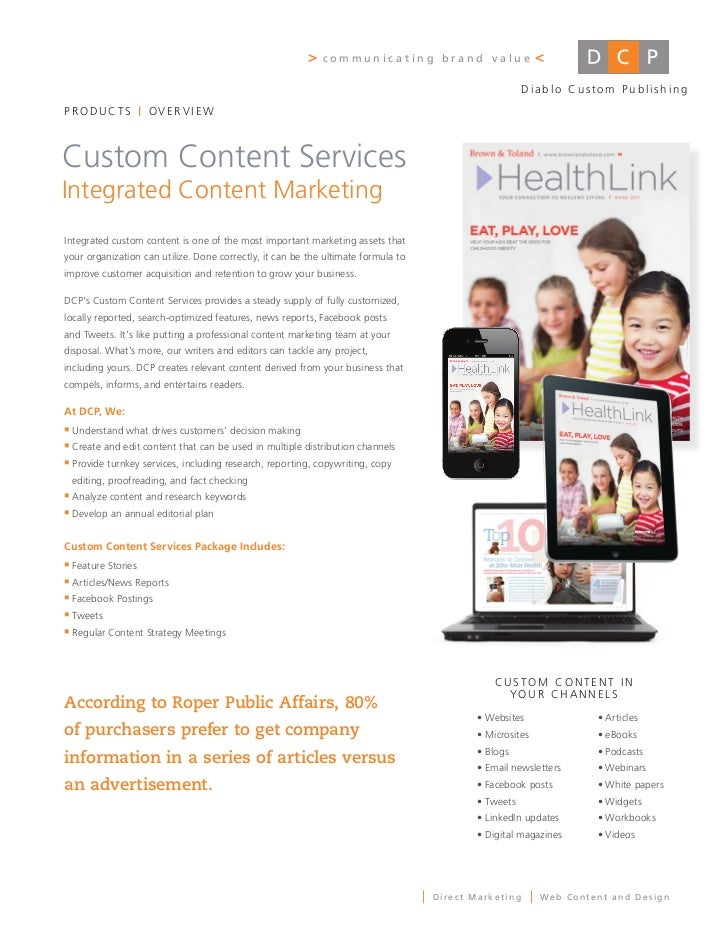 DCP Custom Content Services 20116