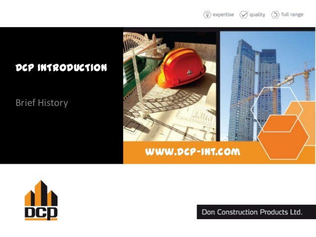 DCP INTRODUCTION Brief History www.dcp-int.com