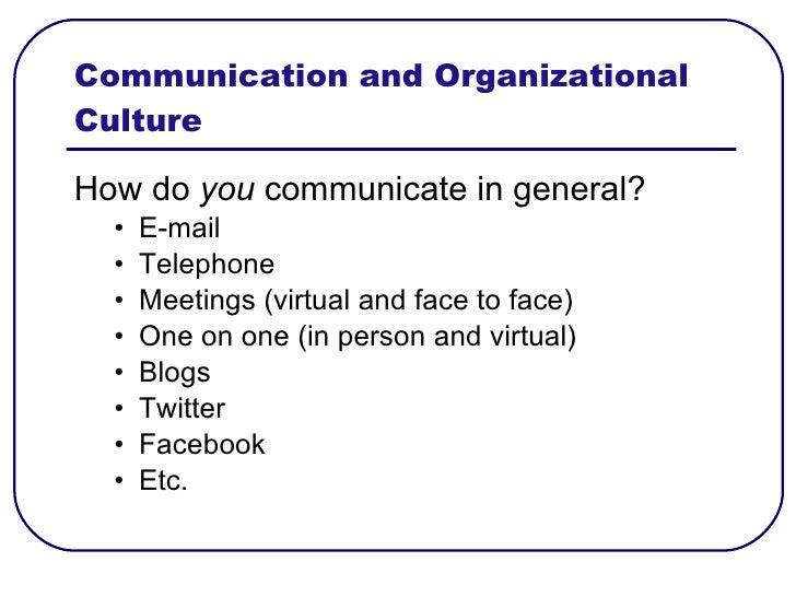 Facebook Organizational Culture And Organizational Culture