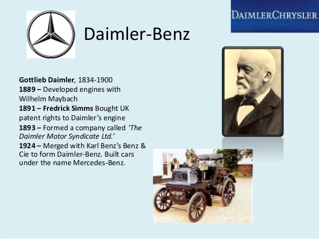 daimler chrysler case study potential Read this essay on daimler case  a broad range of potential environmental changes are such that: (i)  daimler chrysler case study.