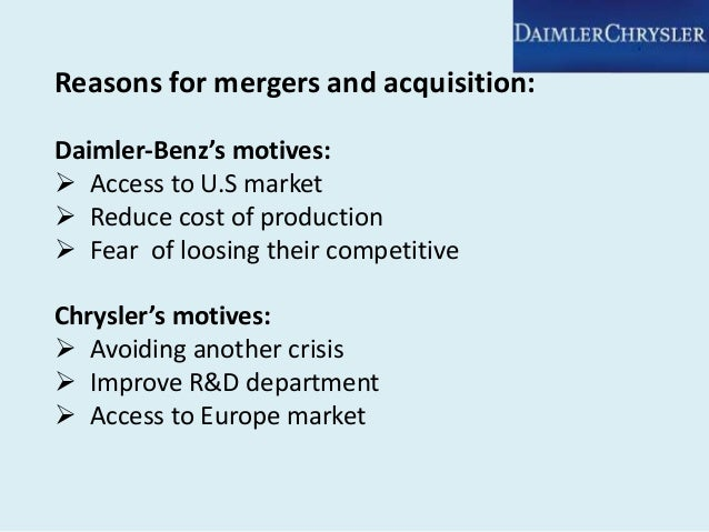 case study daimler and chrysler