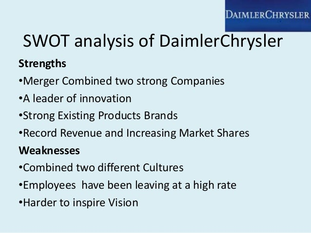 daimler strengths weakness threats This free ebook shows a detailed example of a swot analysis - download it now for your pc, laptop, tablet, kindle or smartphone.