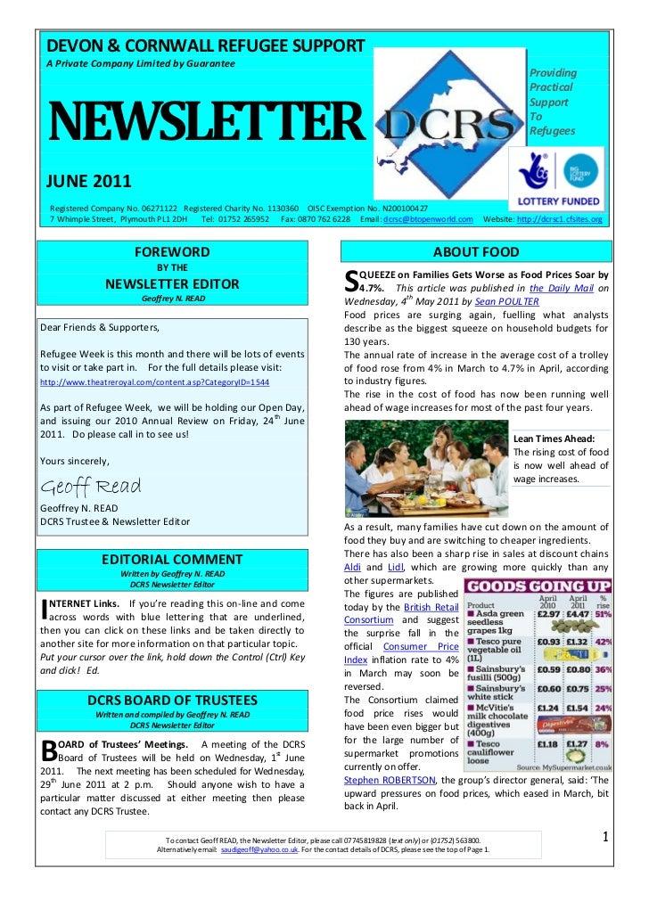 DCRS June 2011 Newsletter