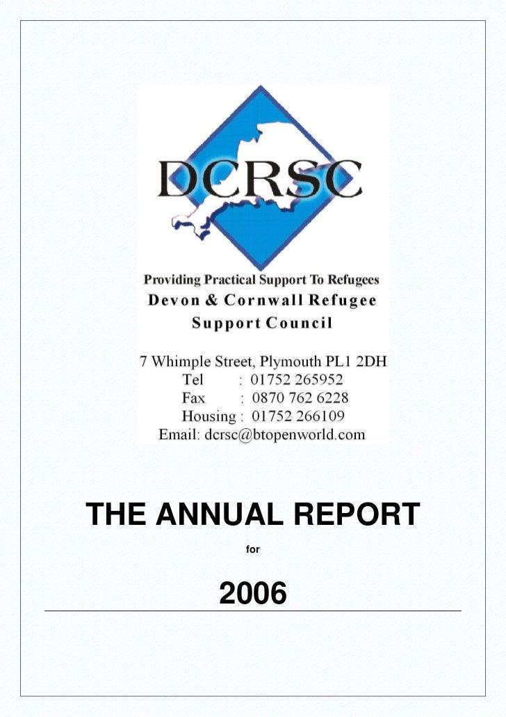 DCRSC Annual Report 2006