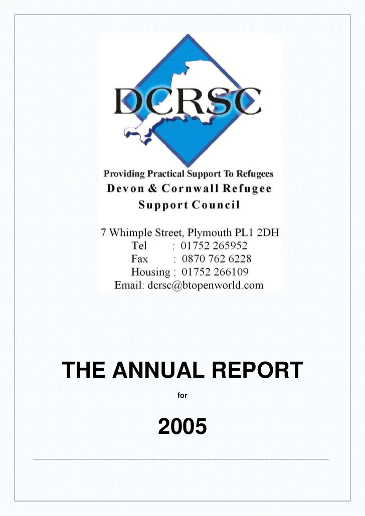DCRSC Annual Report for 2005