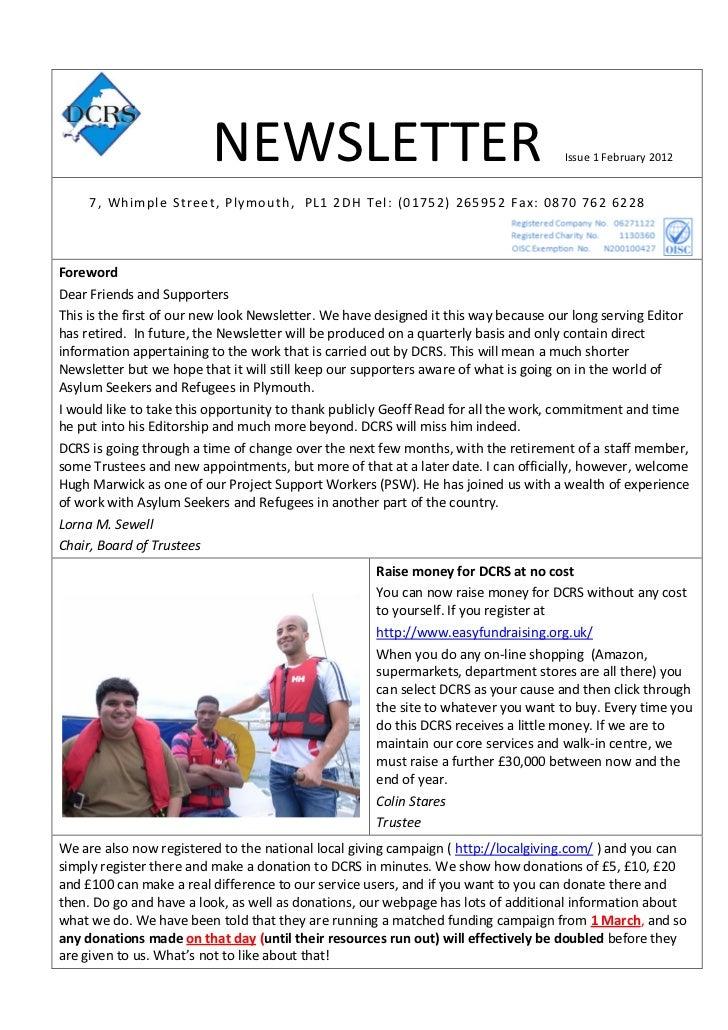 DCRS Newsletter February 2012