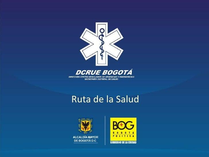 Inicio<br />Ruta de la Salud<br />Doctor Manuel Antonio Villamizar Mejía<br />