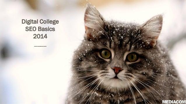 Digital College SEO Basics 2014 ____