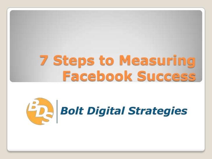 7 Steps to Measuring Facebook Success