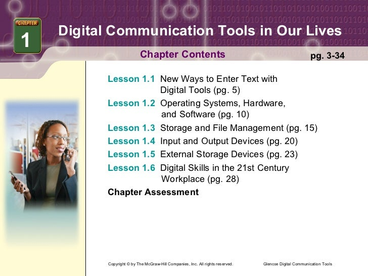 Digital Communication Tools in Our Lives1                           Chapter Contents                                      ...