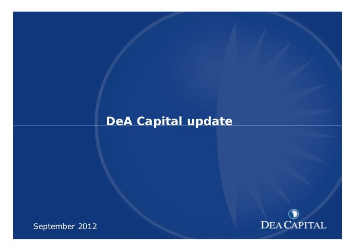 DeA Capital Overview update September 2012