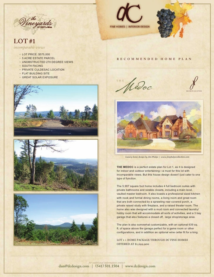 LOT #1 incomparable views    •   LOT PRICE: $575,000    •   5 ACRE ESTATE PARCEL                                         R...