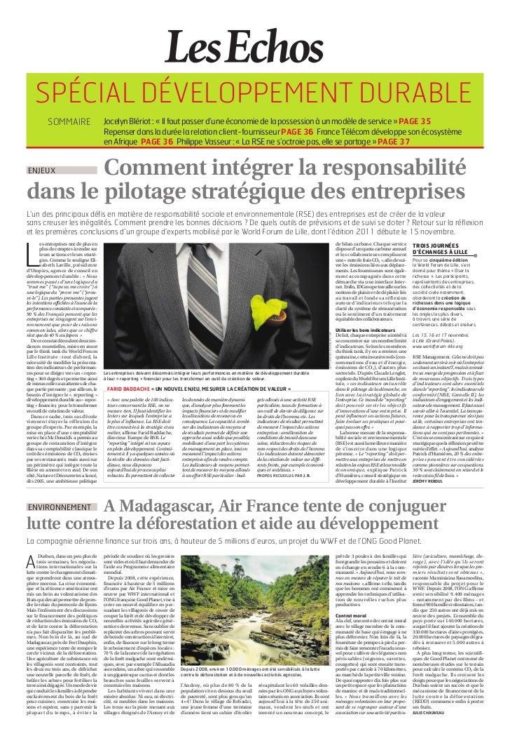 Article World Forum Lille Echos