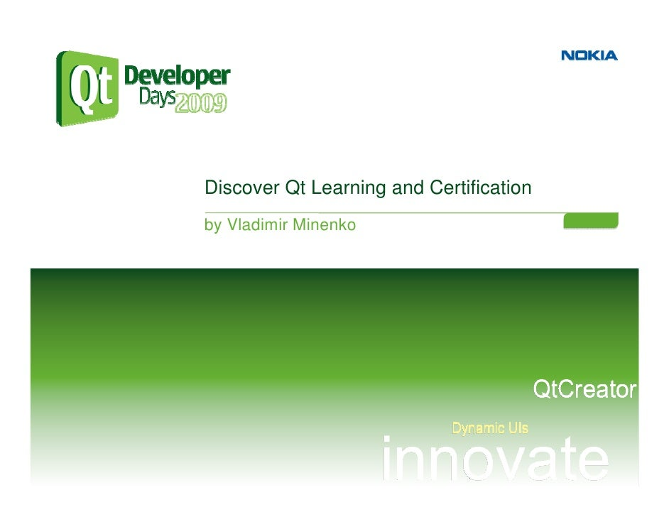 Discover Qt Learning and Certification by Vladimir Minenko
