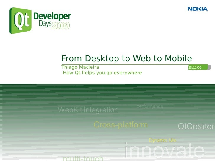 Convergence: From Desktop to Web to Mobile