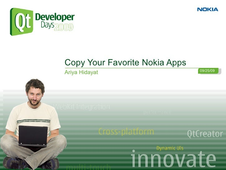 Copy Your Favourite Nokia App with Qt