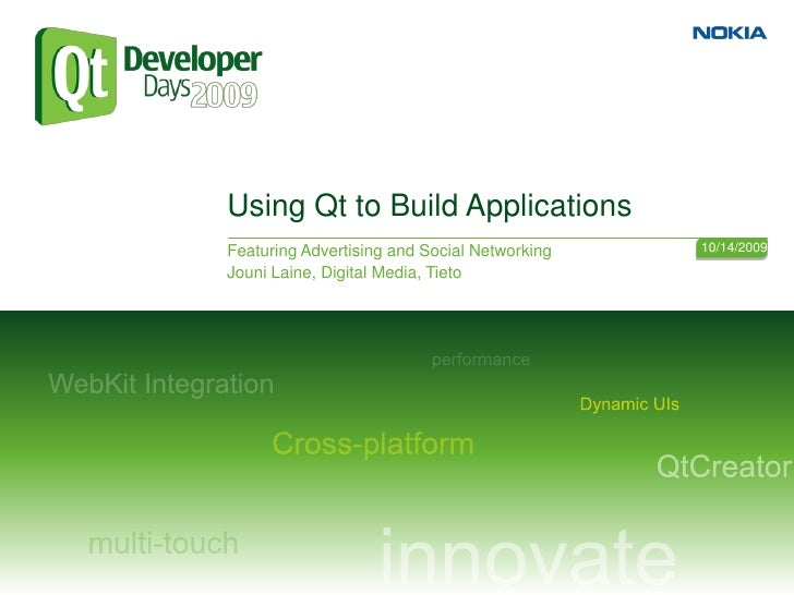 Using Qt to Build Mobile Applications Featuring Social Networking and Monetization Models Beyond Advertising