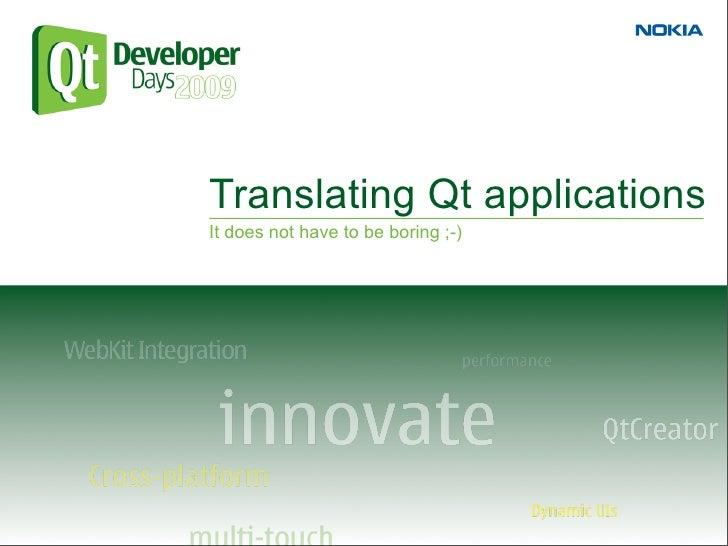 Translating Qt Applications