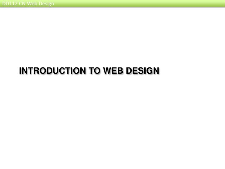 Introduction to web design<br />