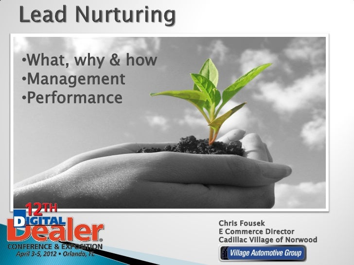 •What, why & how•Management•Performance                   Chris Fousek                   E Commerce Director              ...