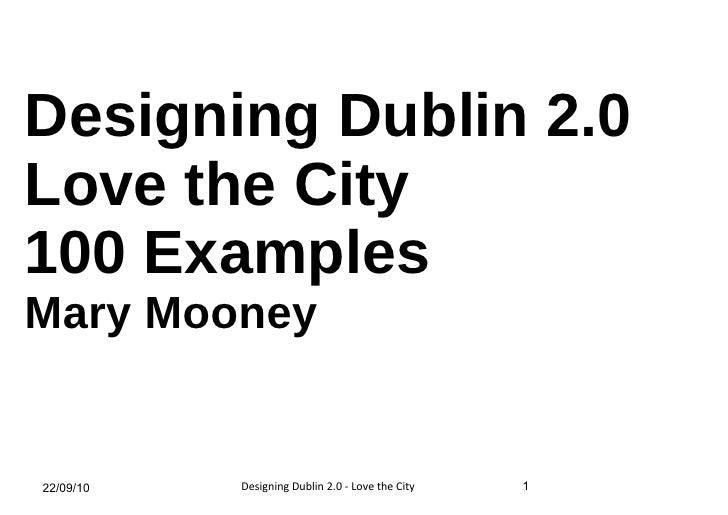Designing Dublin