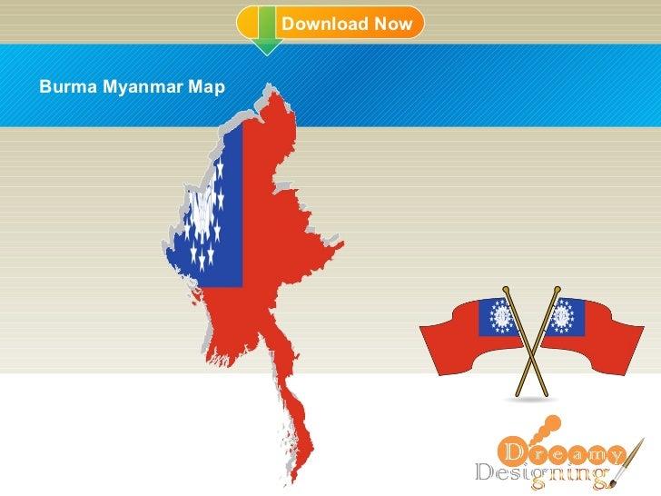 DD Burma Myanmar Map
