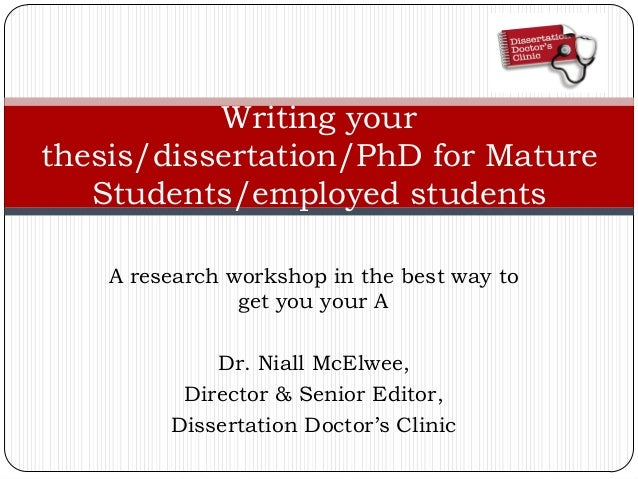 write a phd thesis in 3 months