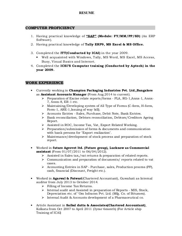 computer knowledge resume example resume and