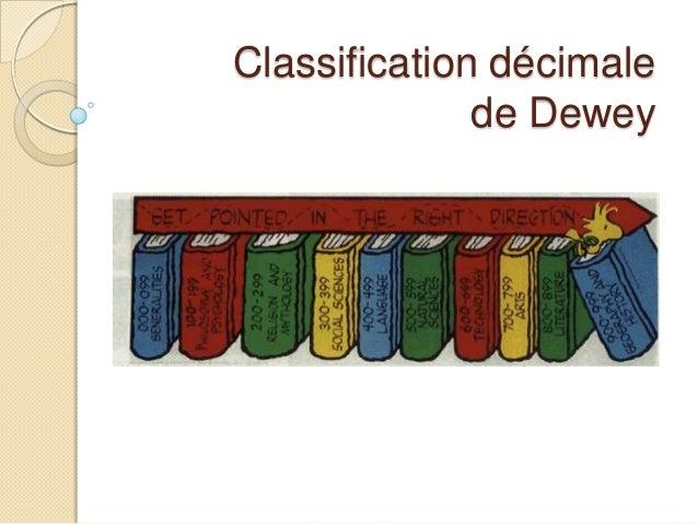 Classification décimalede Dewey